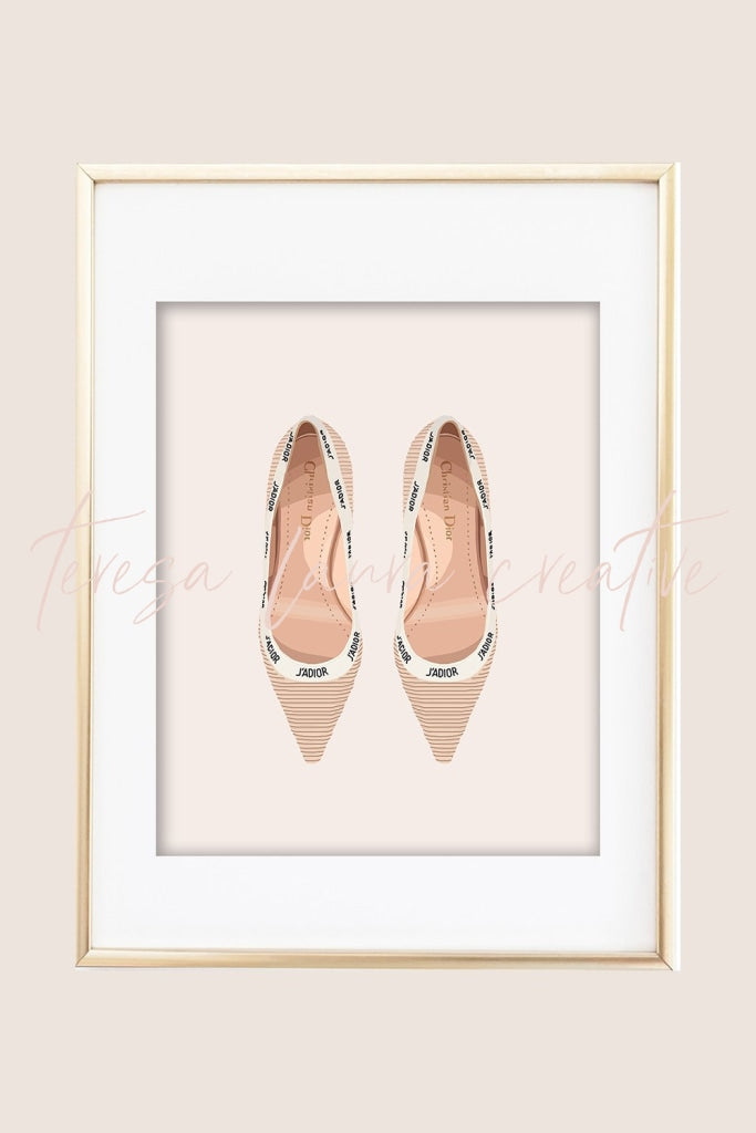 Pretty Shoes 05 Illustrated Art Print