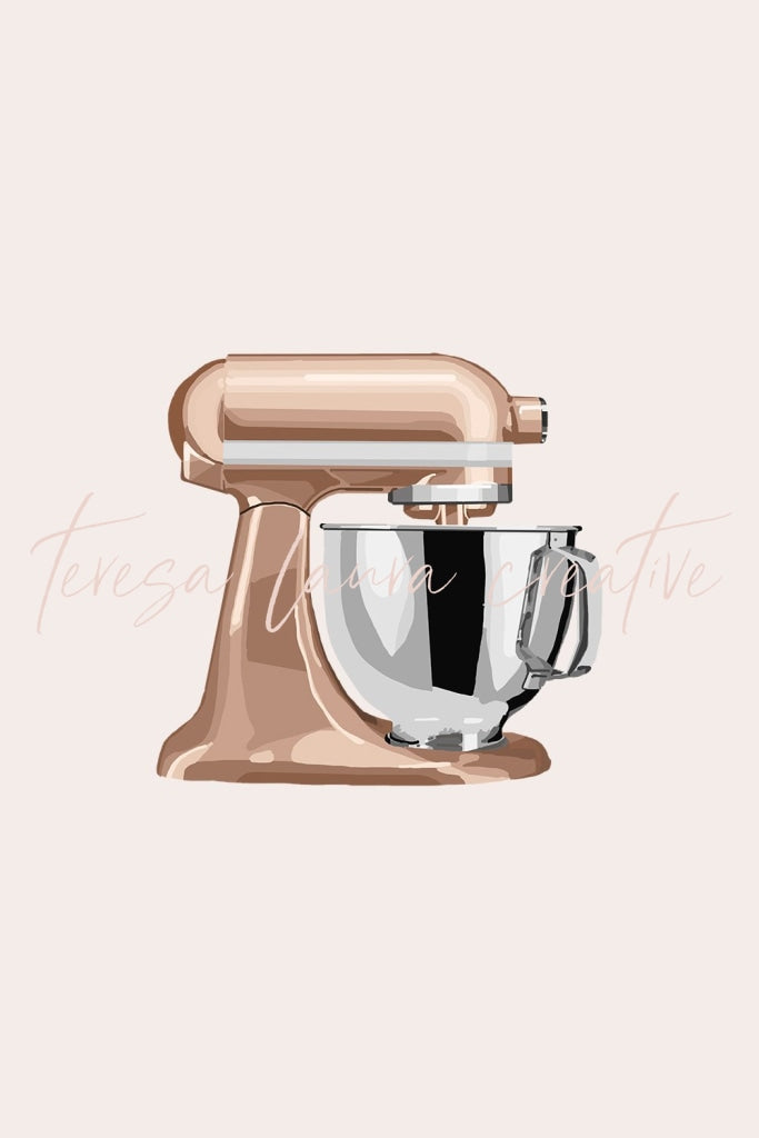 Rose Gold Kitchen Mixer