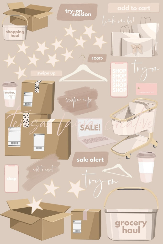 Shopping Sticker Pack