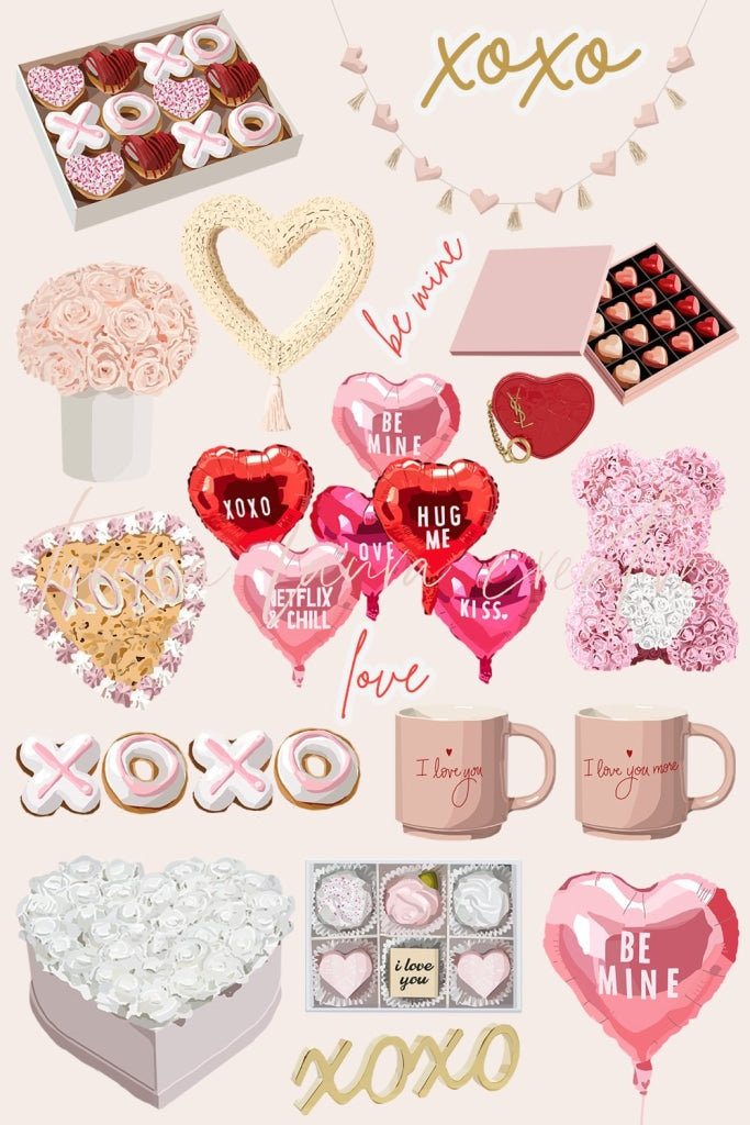 Valentines Day Digital Sticker Pack