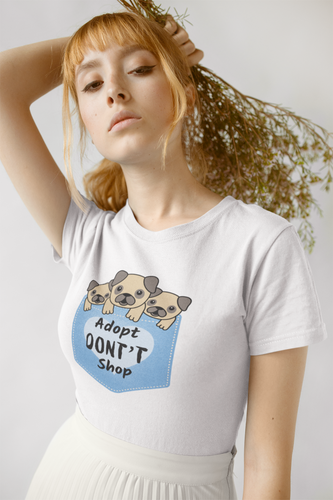 Adopt Don't Shop - Animal Rights - Animal Shelter T-Shirt