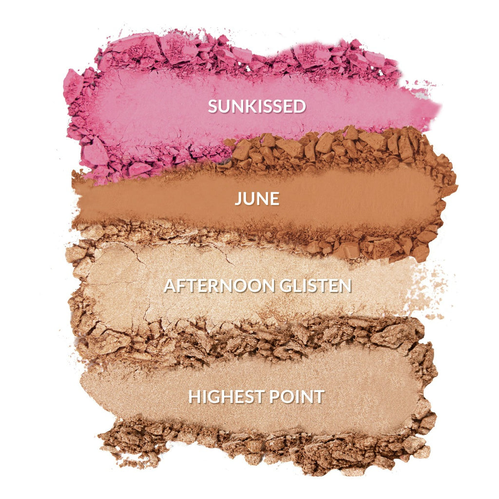 Sunkissed, June, Afternoon Glisten, Highpoint Swatch