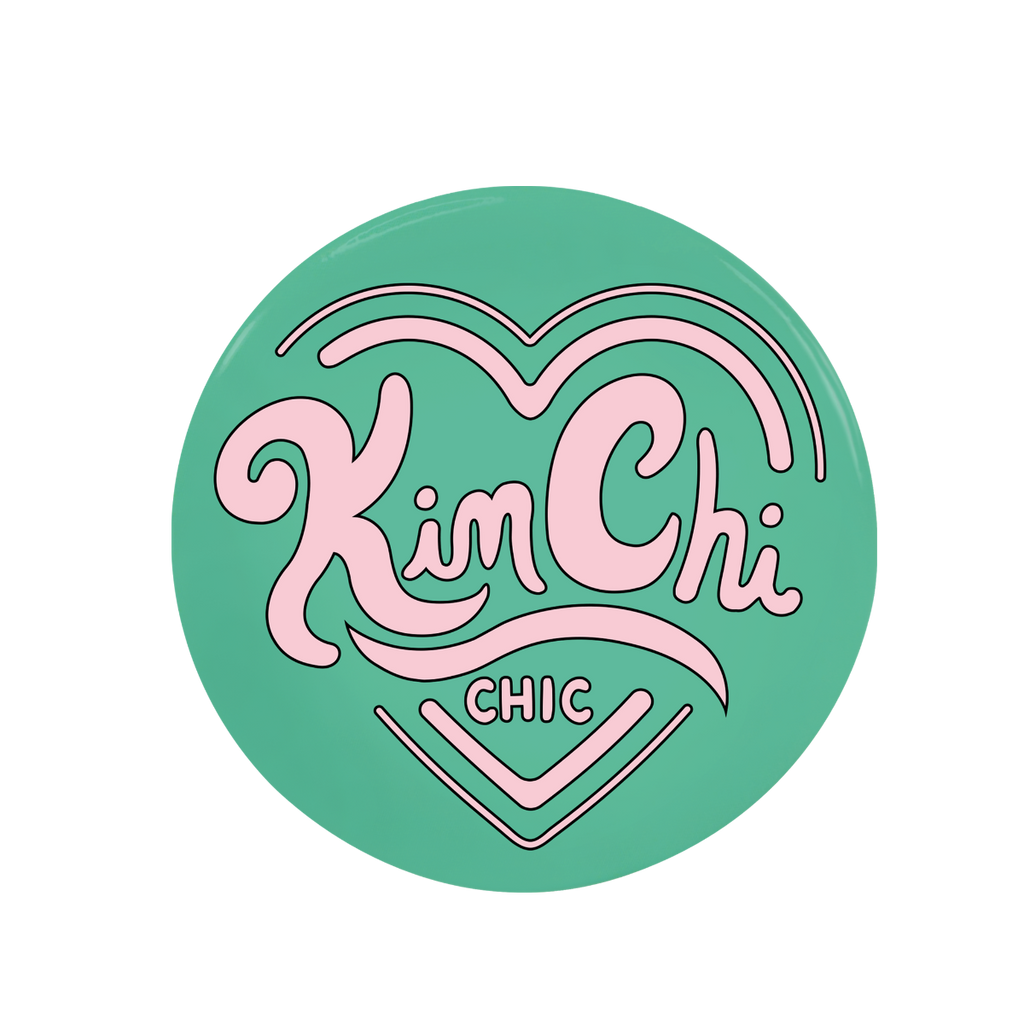 KimChi Chic Beauty Button - Teal 35mm