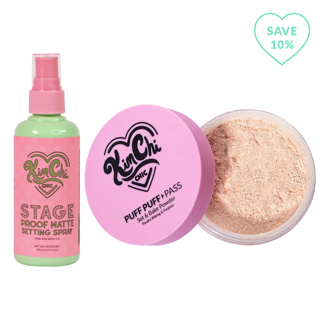 Stage Proof Matte Setting Spray with Puff Puff Pass Translucent