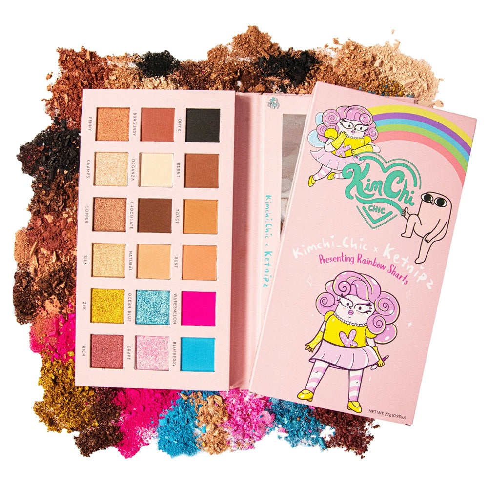 Rainbow Sharts Palette opened powders