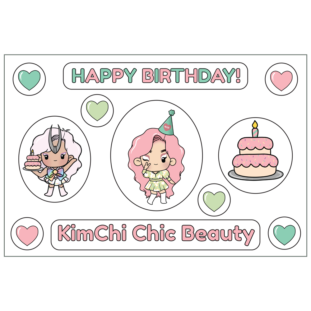 Birthday Sticker Sheet