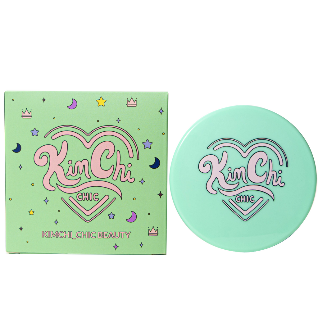 KimChi_Chic compact mirror in mint with box