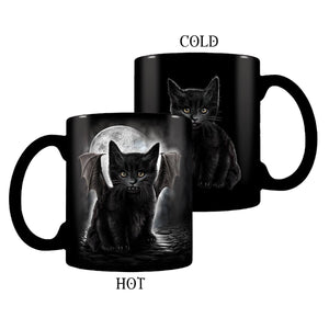 Bat Vampire Kitten Black Coffee Mug