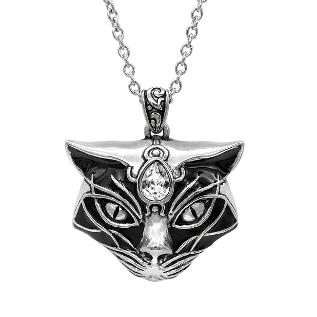 magical cat head pendant
