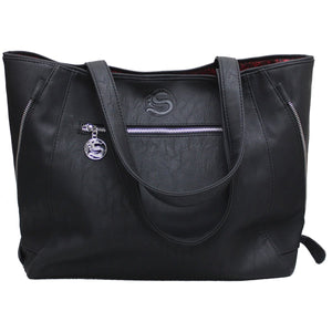 gothic black cats tote bag for women