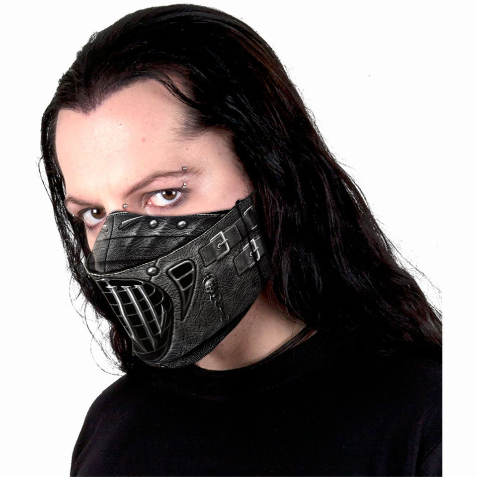 unisex cyber goth protective face mask