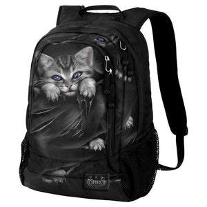 goth kitten black backpack