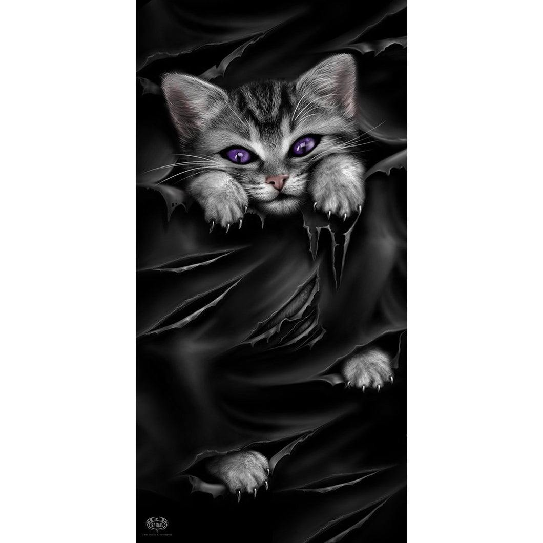goth cat comfortable bath or beach towel