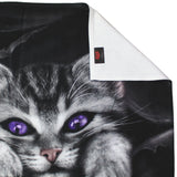 gothic kitten bath towel