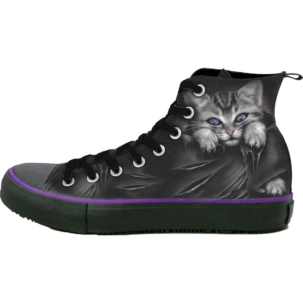 goth cat high top shoes for women