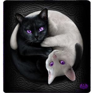 yin yang goth cats jumbo fleece blanket