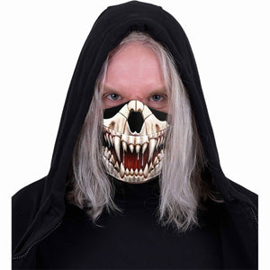 unisex goth mask with hell hound design