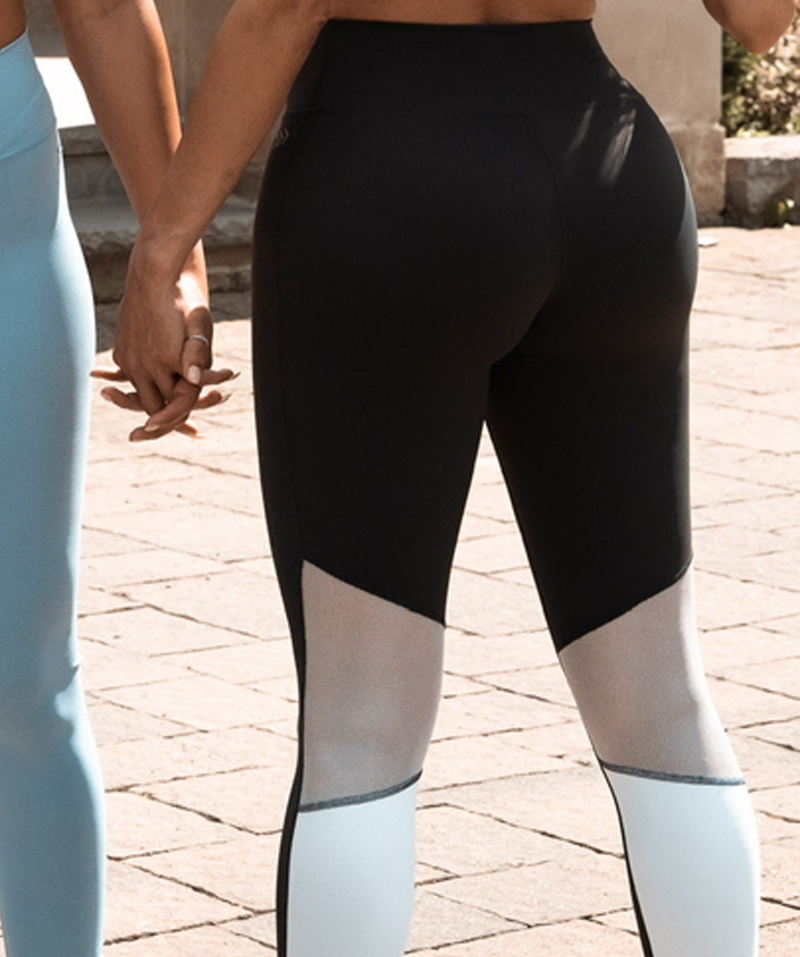 High Waist Mesh back Leggings