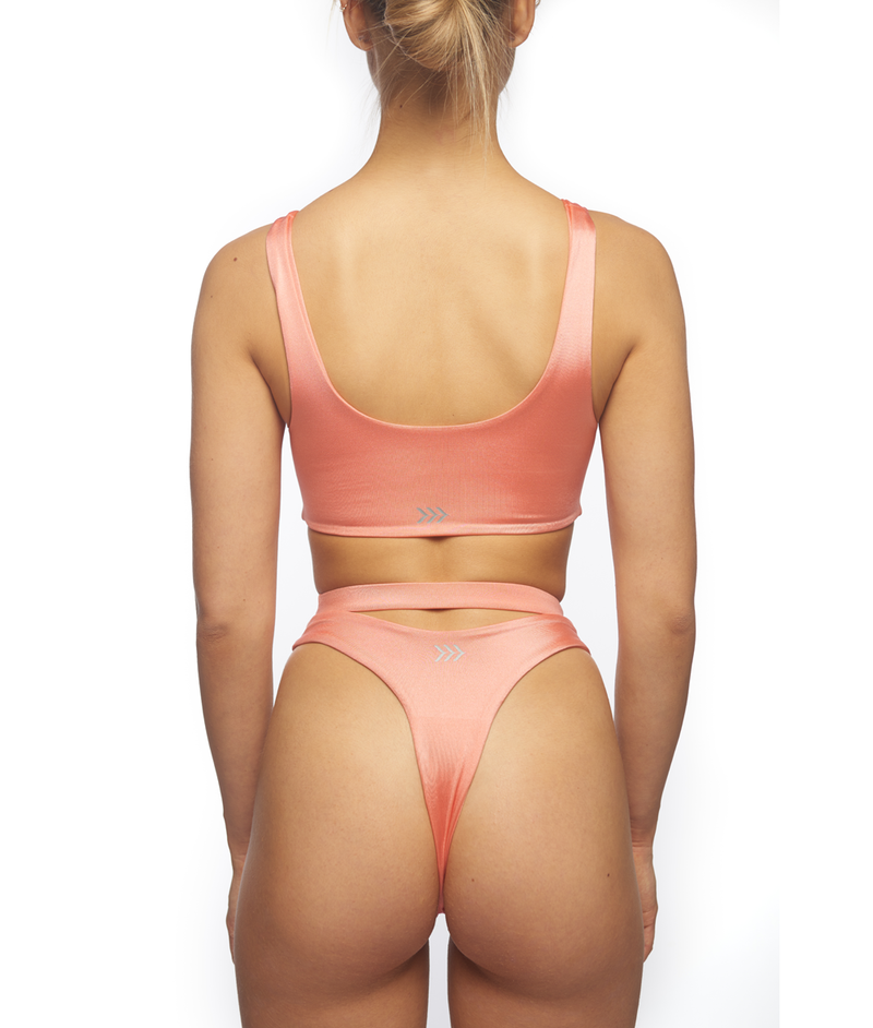 Raha, Cut-Out Bikini - Peach