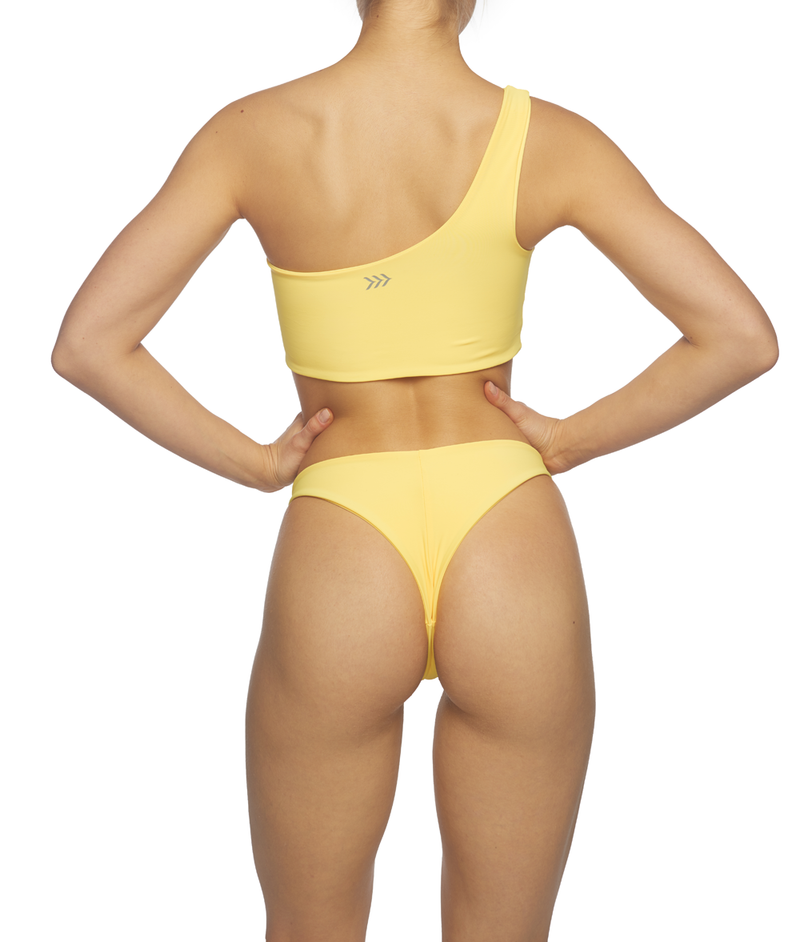 Sun-Kissed, One Shoulder Bikini - Yellow