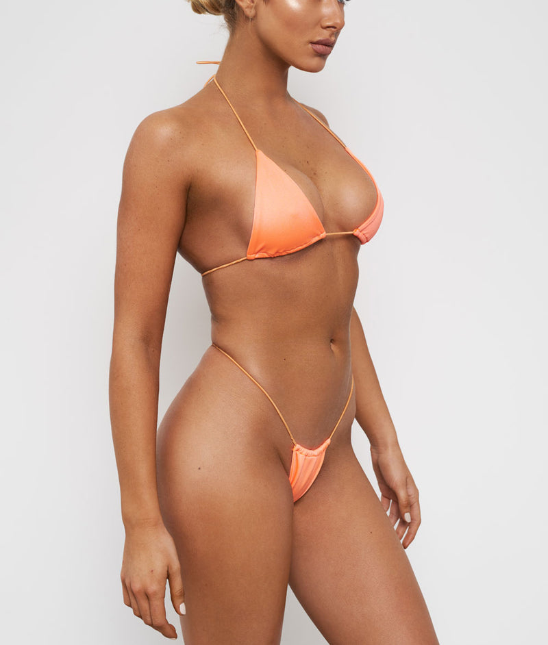Lucid, String Triangle Bikini - Peach