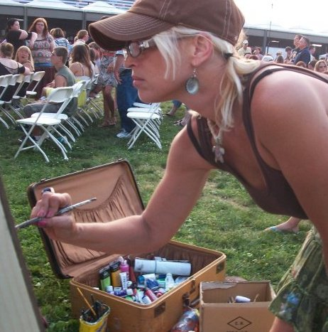 Kimberly Dawn painting live and a music festival