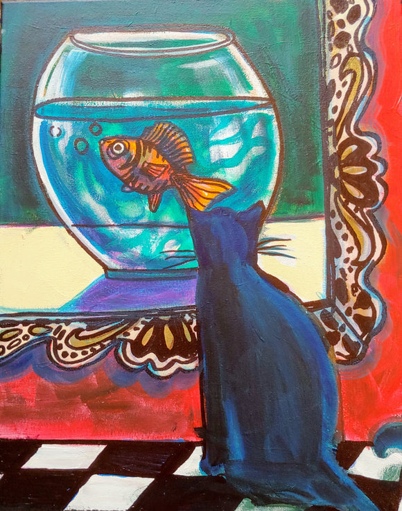 Painting of a Goldfish