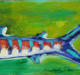 Folk art fish tail