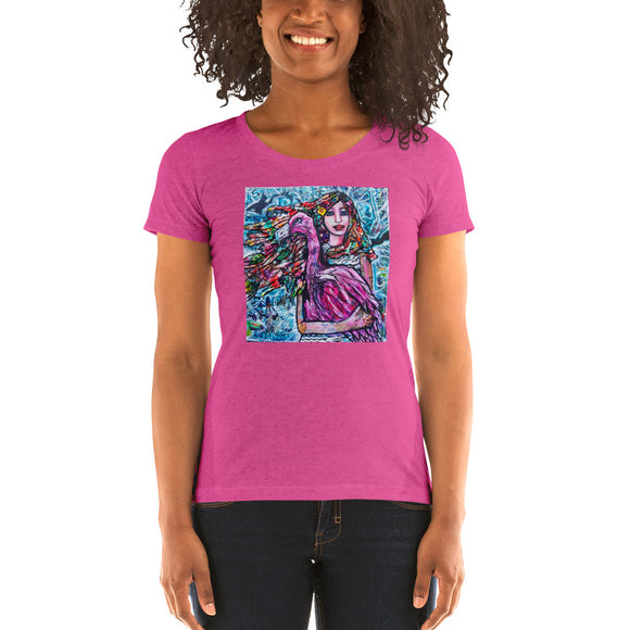 Life Is A Flamingo Ladies' short sleeve t-shirt