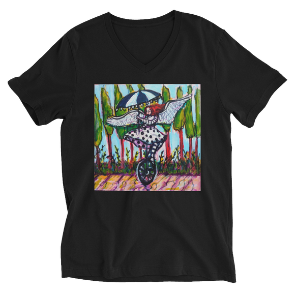 Fairy Angel Unisex Short Sleeve V-Neck T-Shirt