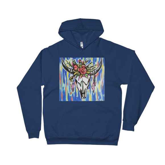 Skull and Roses Unisex Fleece Hoodie