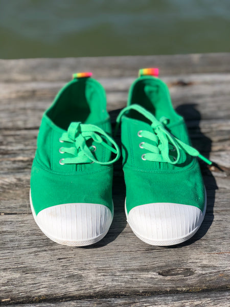 Hammill Washed Canvas Sneaker - Green
