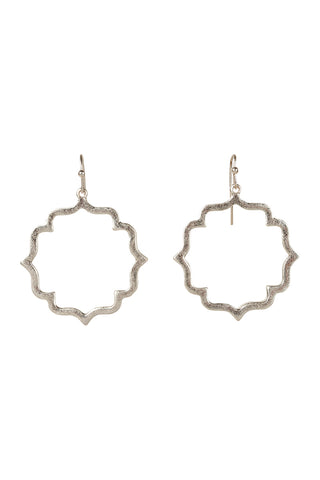 Misty tile earring
