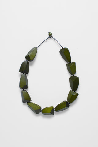 Sunne short Necklace - Olive