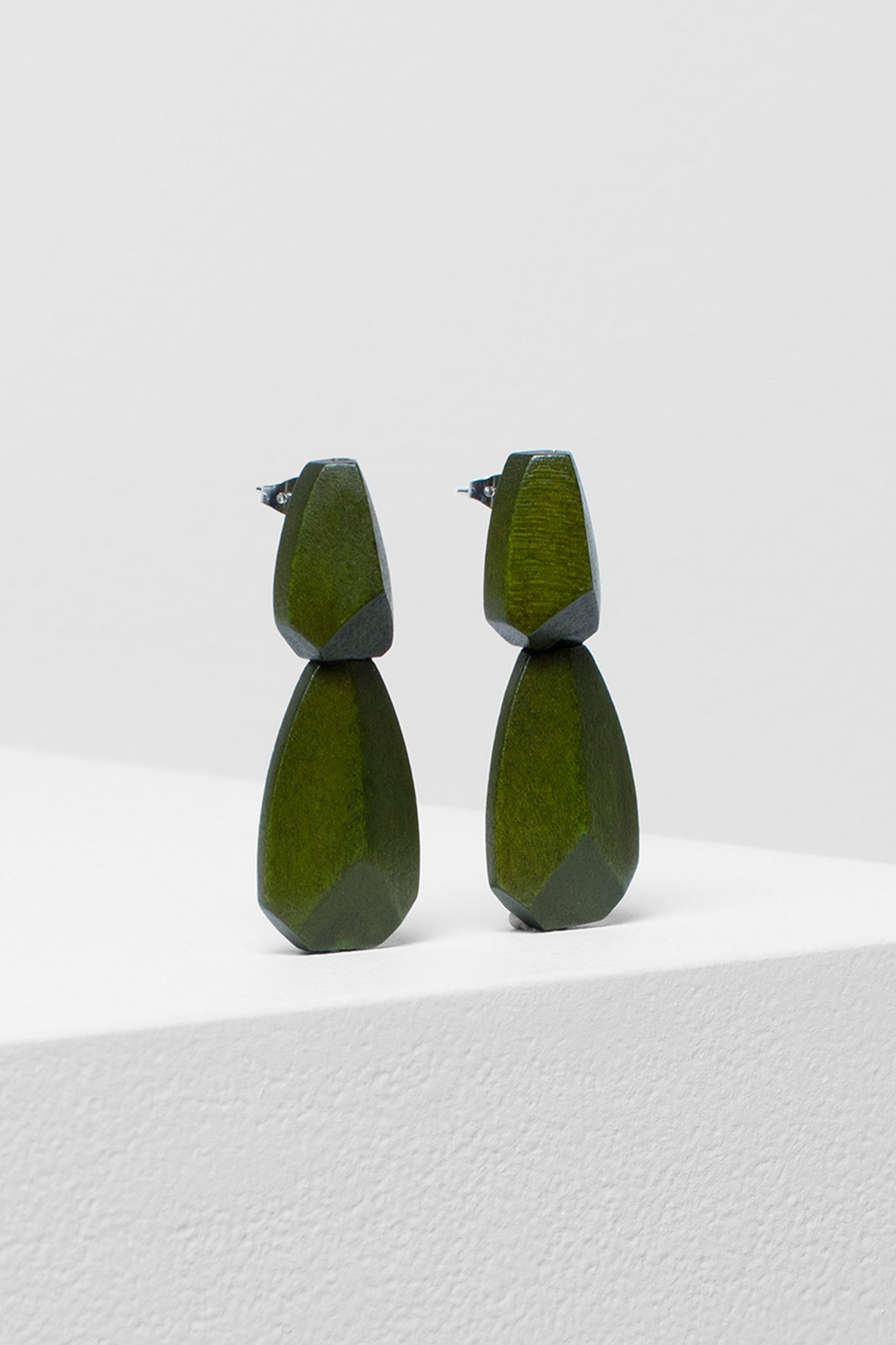 Sunne Drop earrings - Olive