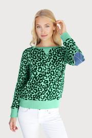 Leopard Apple Green Denim Windy