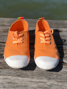 Hammill Washed Canvas Sneaker - Orange