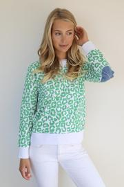 Bright Denim Leopard Windy - Bright Green