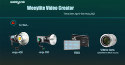 Become a Weeylite video creator and win Weeylite lights & Viltrox lens