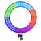 Weeylite WE-10 Dimmable 18'' RGB LED Ring Light with 17 Lighting Effects
