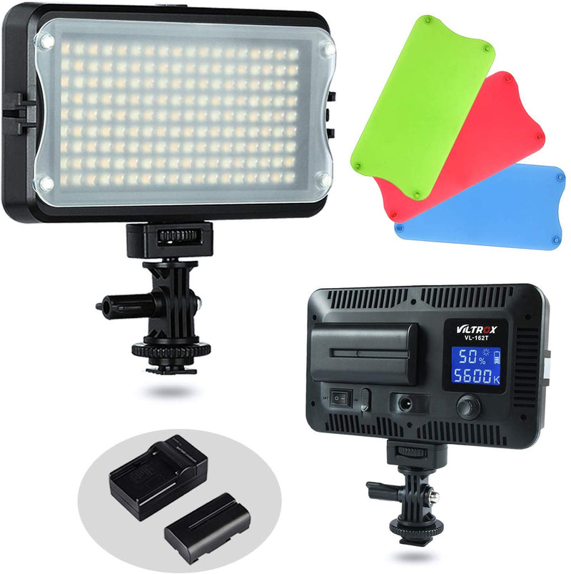 VILTROX VL-162T CRI95+ LED Video Light, Portable Camera Photo Light