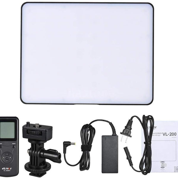 VILTROX VL-200 II Video LED Light Bi-Color 3300K-5600K 30W Dimmable LED Video Light Panel CRI95 DC Adapter Daylight Balanced Portable Continuous Lamp,with Wireless Remote Control
