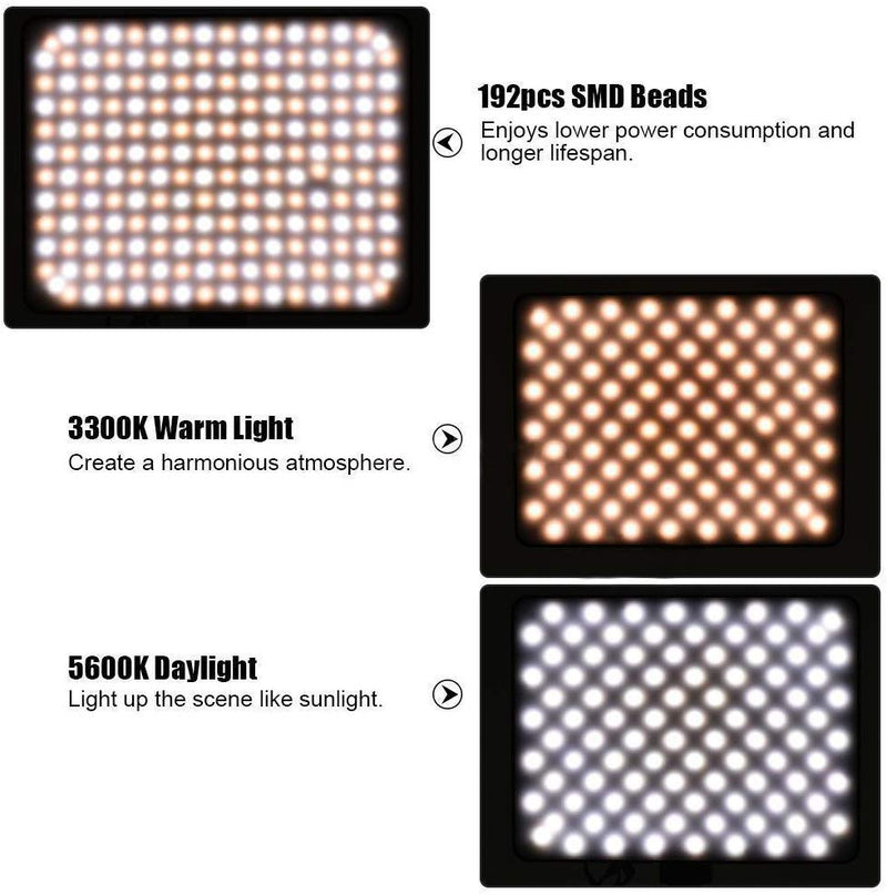 VILTROX VL-200 II Video LED Light Bi-Color 3300K-5600K 30W Dimmable LED Video Light Panel