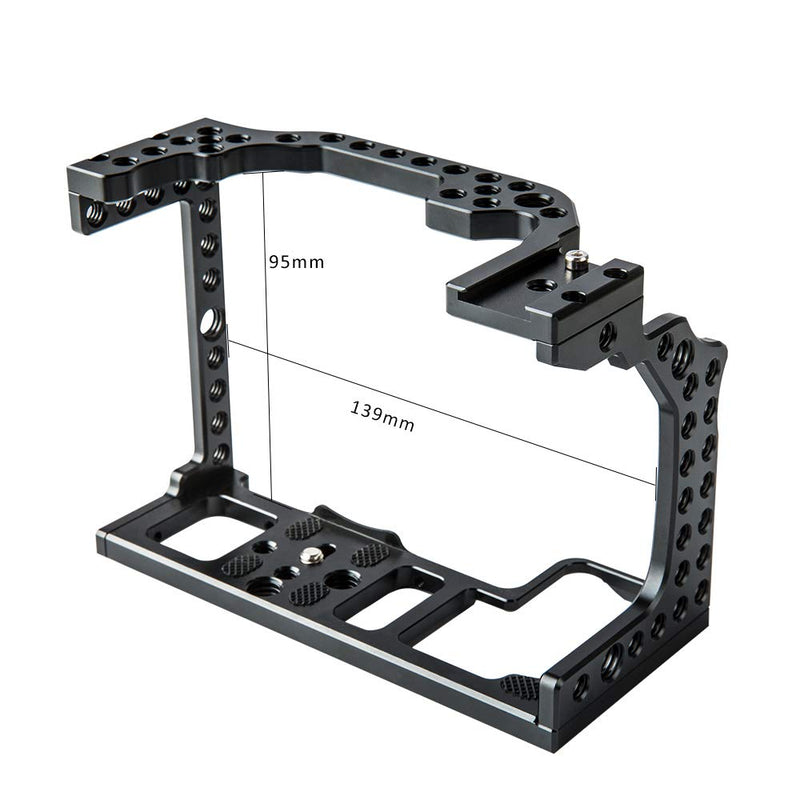 "Viltrox FANSHANG CR-01 DSLR Camera Cage for Canon EOS R with 1/4"" 3/8"" Mounting Points"