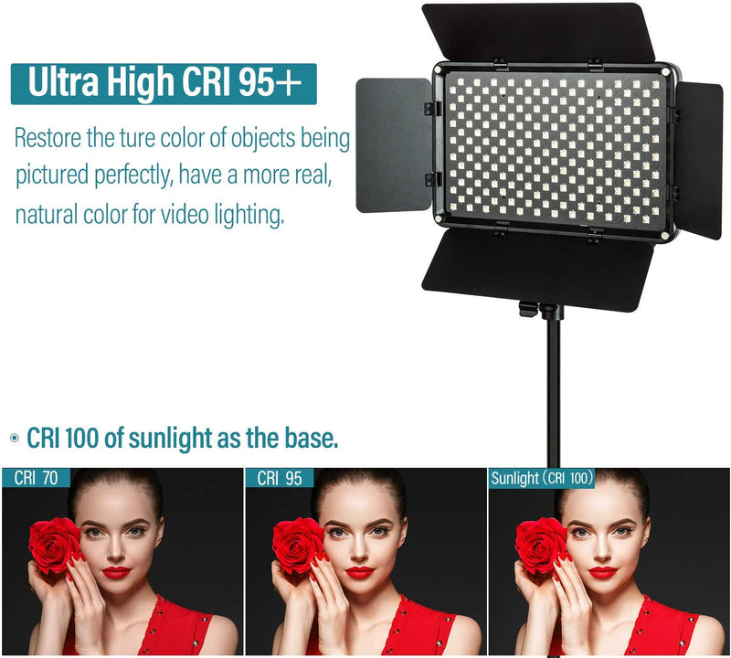 (2-pack) VILTROX VL-S192T Video LED Light 45W 3300K-5600K CRI 95+