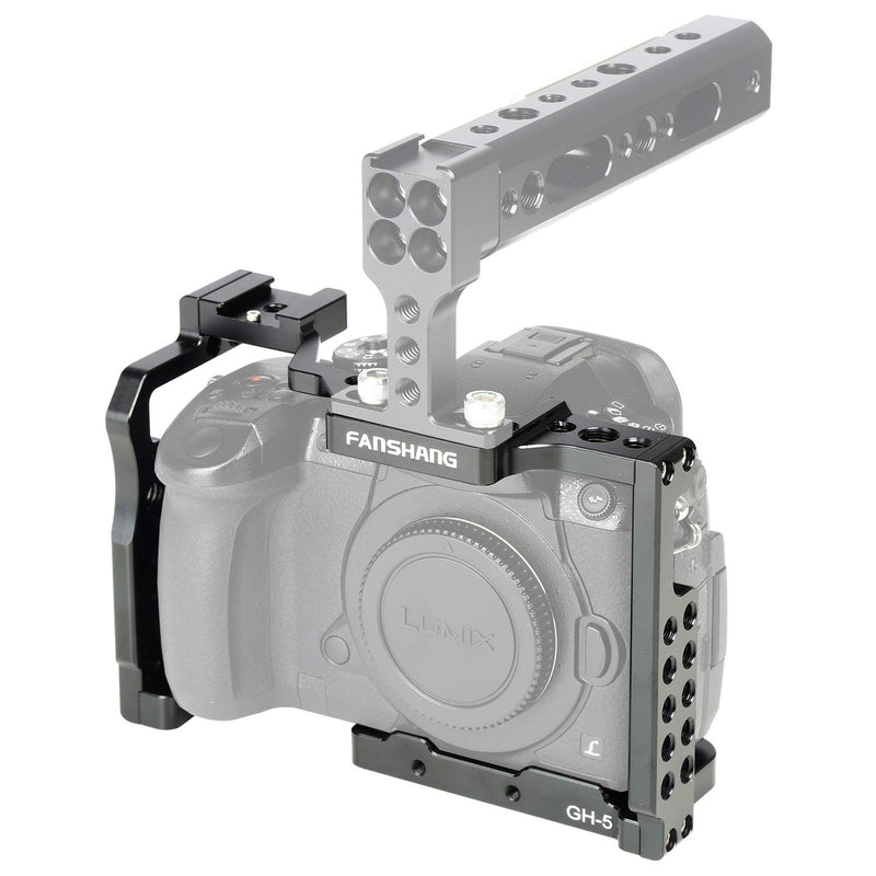 Viltrox FANSHANG GH5 GH5S Camera Cage Video Stabilizer with Cold Shoe Mount