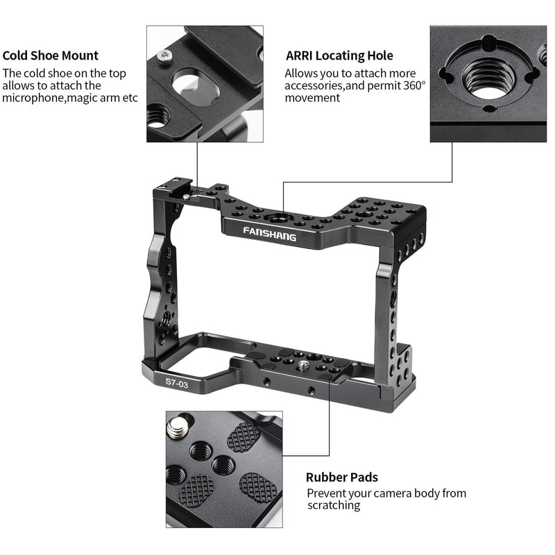 Viltrox FANSHANG Aluminum Camera Cage Film Movie Making Kit Rig Stabilizer+Top Handle Grip for Sony