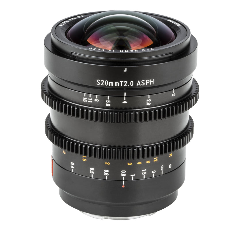 Viltrox  S 20mm T2.0 FE Prime Cinematic MF Wide Lens For Sony E-mount Camera