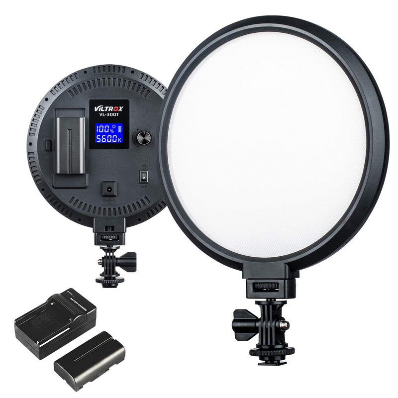 VILTROX VL-300T Bi-Color Studio Round LED Ligh Ultrathin Studio Edge Flapjack Light