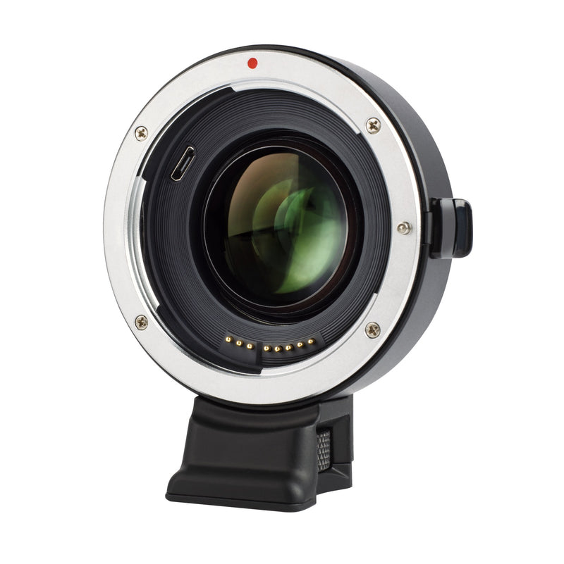 VILTROX EF-EOS M2 Auto Focus Lens Mount Adapter Ring 0.71x for Canon EF Series Lens to EOS EF-M Mirrorless Camera,with USB Interface